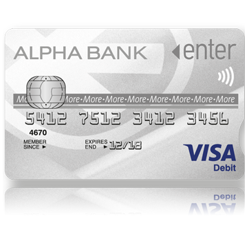 enter more visa card alpha bank